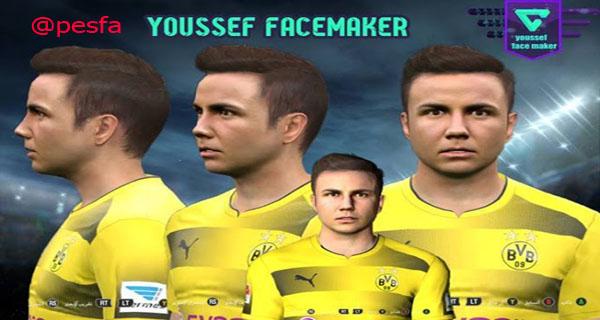 فیس Mario Gotze توسط Youssef facemaker برای PES2017
