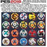 پک توپ ورژن 2 توسط Hawke برای PES 2018