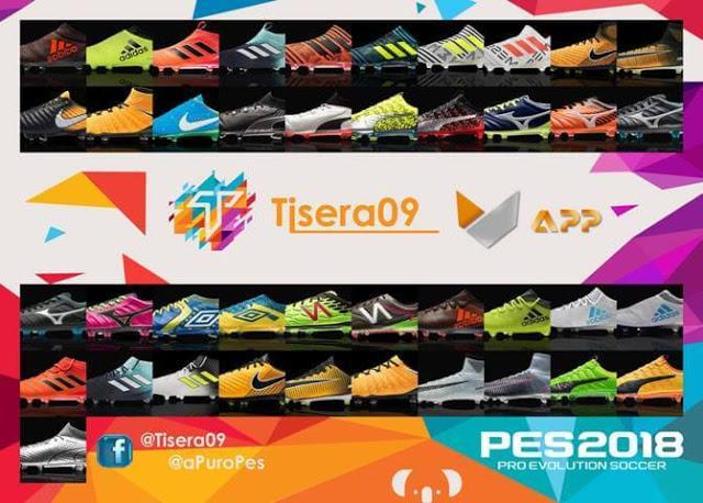 پک کفش v1 توسط Tisera09 برای PES 2018 (نسخه جدید)