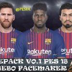 فیس پک ورژن 1 توسط Bebo برای PES 2018