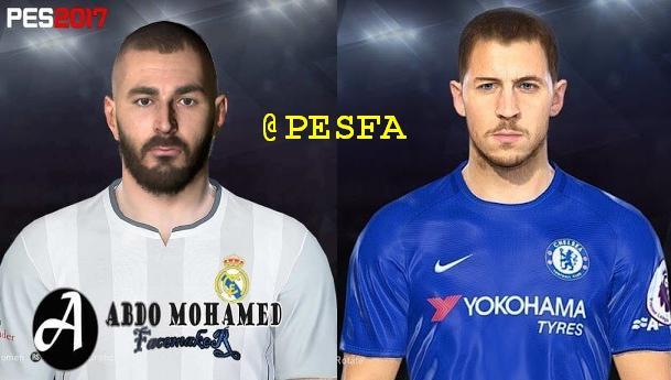 فیس Hazard و Benzema برای PES 2017