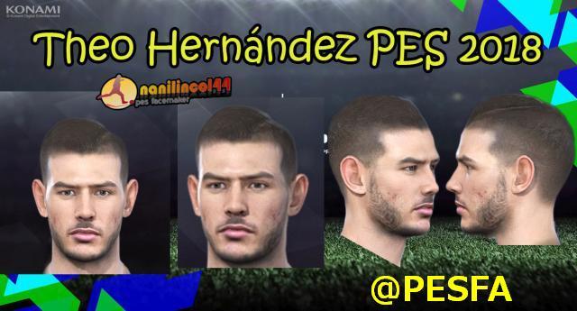 فیس Theo Hernández توسط NaniLincol برای PES 2018