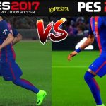 ویدیو مقایسه گرافیک PES 2017 و PES 2018