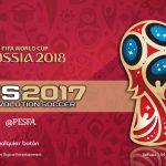 منو گرافیکی جام جهانی روسیه 2018 توسط JAS برای PES 2017