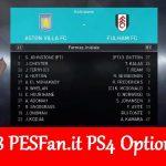 آپشن فایل PESFan V7 برای PES 2018 (مخصوص PS4)