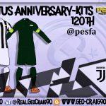 کیت پک Juventus 120th Anniversary توسط Geo_Craig90 برای PES 2017