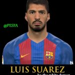 فیس Luis Suarez توسط The White Demon برای PES 2017