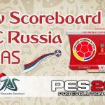 اسکوربورد Russia 2018 توسط JAS برای PES 2017