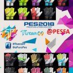 پک دستکش v1 توسط Tisera09 برای PES 2018