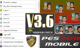 پچ Minimum v3.6 برای PES 2018 موبایل