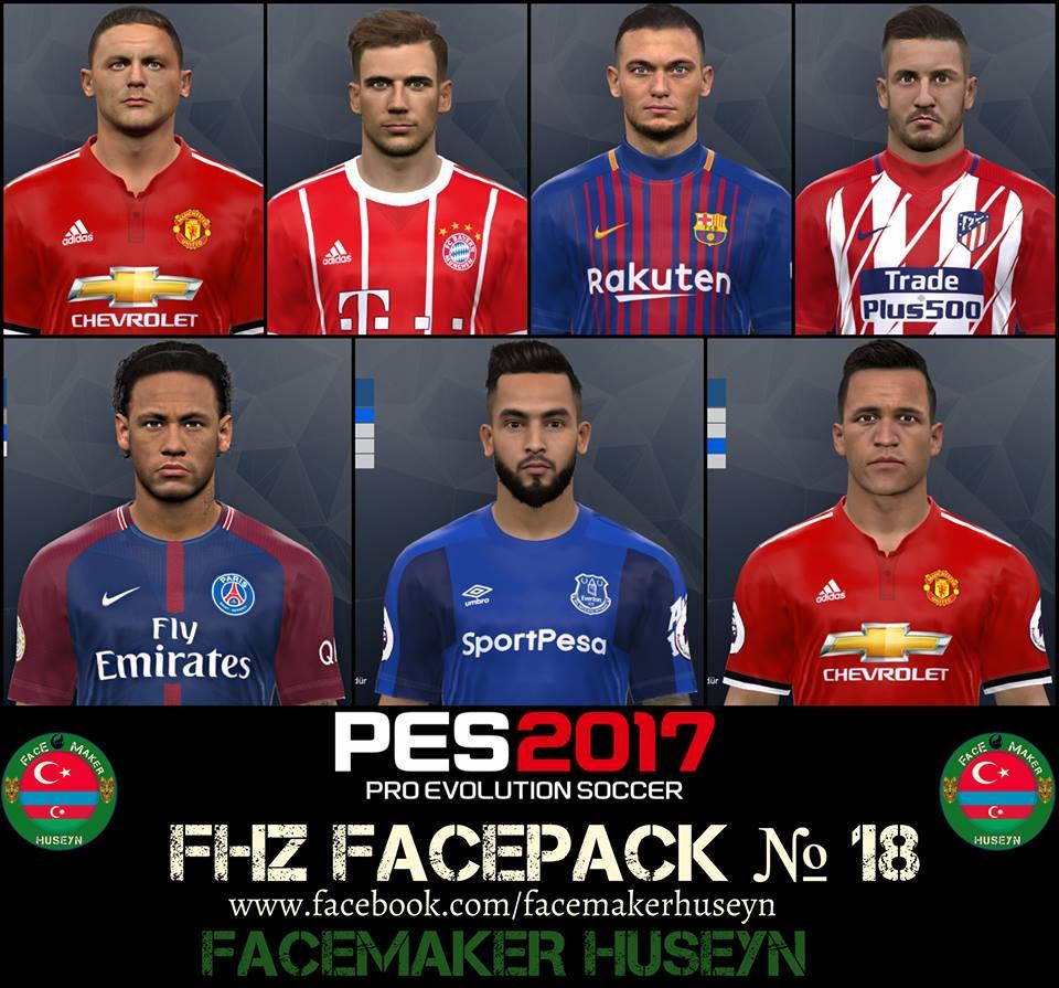 فیس پک FHZ ورژن 18 توسط Huseyn برای PES 2017