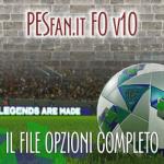 آپشن فایل PESFan V10 برای PES 2018 (مخصوص PS4)