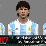 فیس کلاسیک Messi + تتو توسط Jonathan برای PES 2017