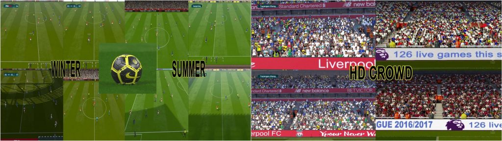 مود گرافیکی FIFA v2 توسط De_vo17 برای PES 2017