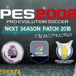 پچ Next Season 2018 برای PES 2008