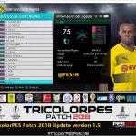 آپدیت پچ TricolorPES v1.5 برای PES 2018