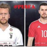 فیس Marchisio و Ramsey توسط Shenawy برای PES 2018