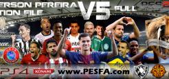 آپشن فایل Emerson Pereira v5 برای PES 2018 (مخصوص PS4)