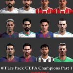 فیس پک UEFA Champions v1 توسط Maddah برای PES 2013