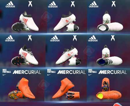 مینی بوت جدید(Adidas & Nike) برای pes 2017