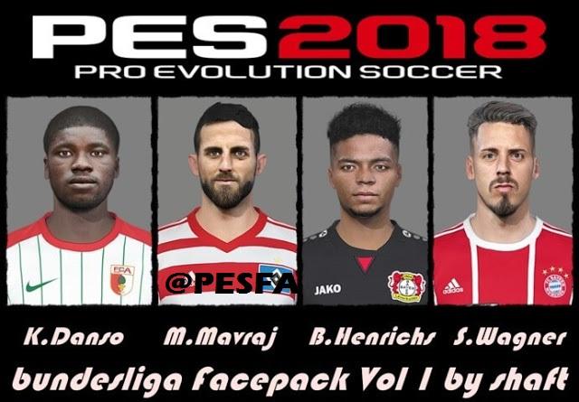 فیس پک Bundesliga ورژن 1 توسط Shaft برای PES 2018