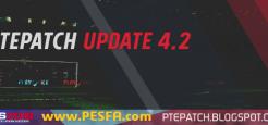 پچ PTE v4.0 برای PES 2018 + آپدیت 4.2