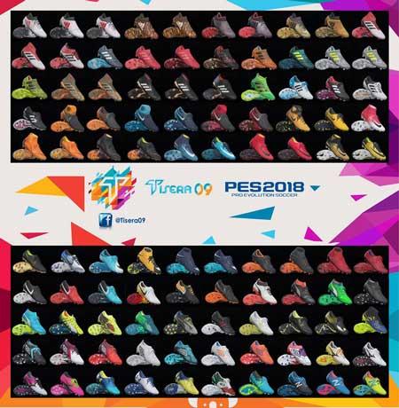 پک کفش v4 توسط Tisera09 برای PES 2018