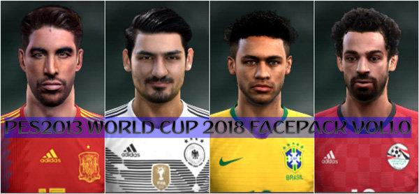 فیس پک World Cup 2018 ورژن 1 برای PES 2013