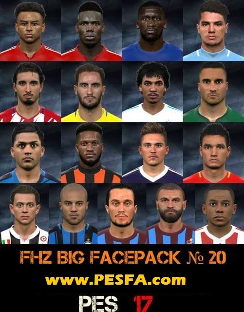 فیس پک FHZ ورژن 20 توسط Huseyn برای PES 2017