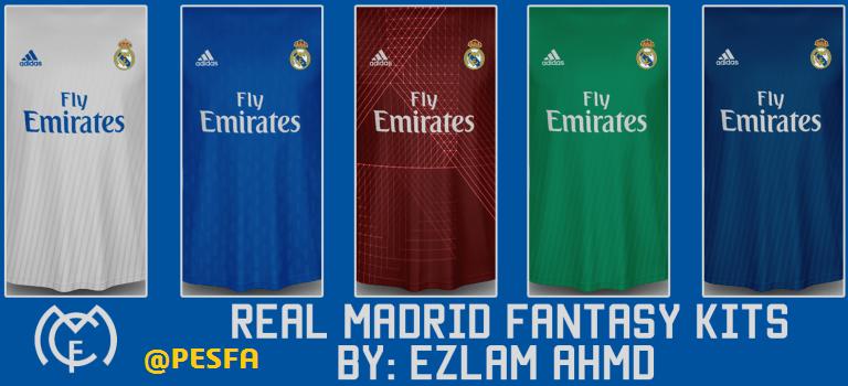 کیت پک فانتزی Real Madrid توسط EzLam Ahmd برای PES 2017