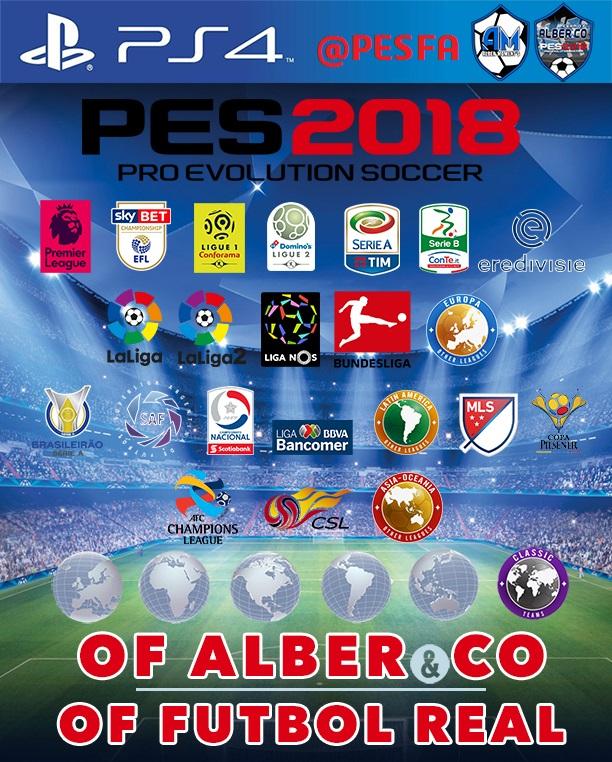 آپشن فایل Alber & CO v5 برای PES 2018 (مخصوص PS4)