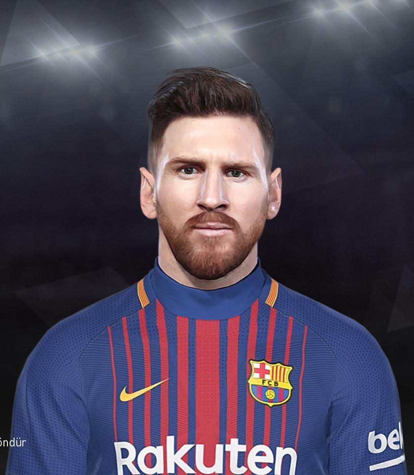فیس Messi توسط EmreT برای PES 2018