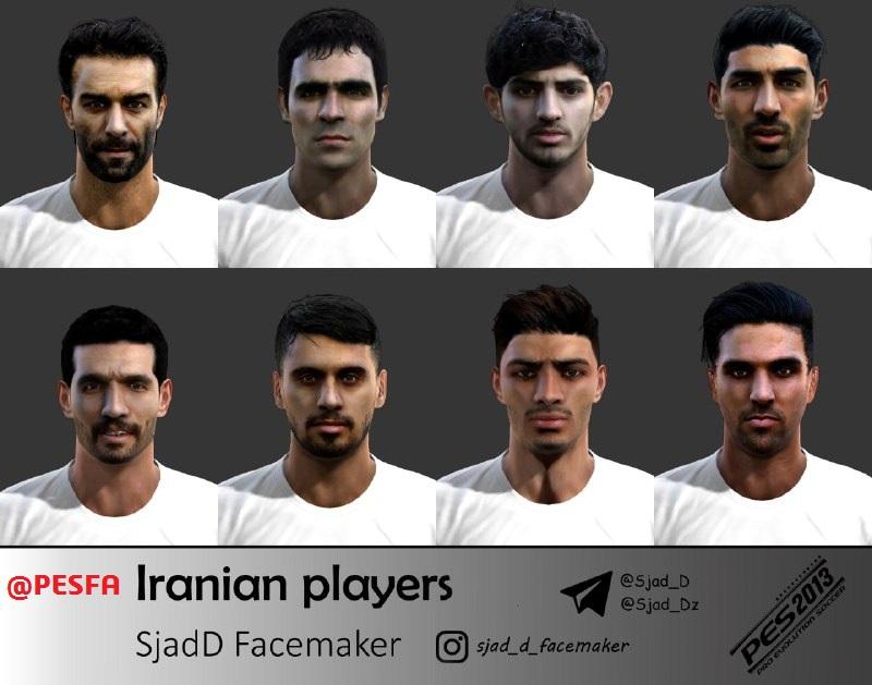 فیس پک ایرانی توسط SjadD برای PES 2013