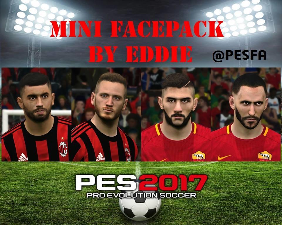 مینی فیس پک جدید توسط Eddie برای PES 2017
