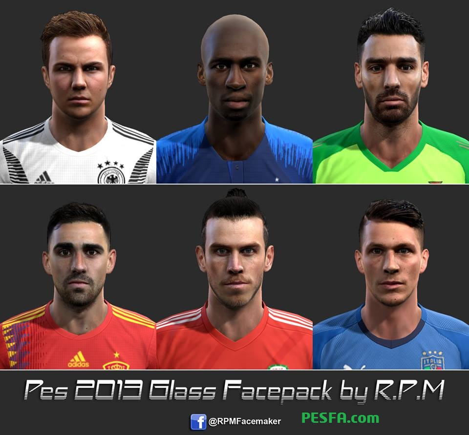 فیس پک Glass توسط R.P.M برای PES 2013