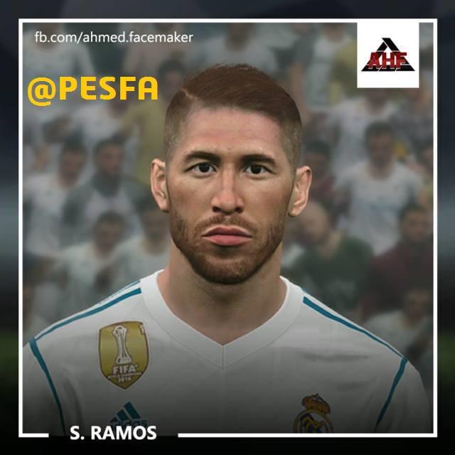 فیس Ramos توسط benHUSSAM برای PES 2017