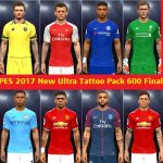 تتو پک 600 تایی Ultra توسط JDanny182 برای PES 2017