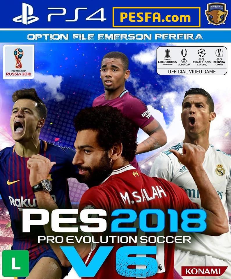 آپشن فایل Emerson Pereira v6 برای PES 2018 (مخصوص PS4)
