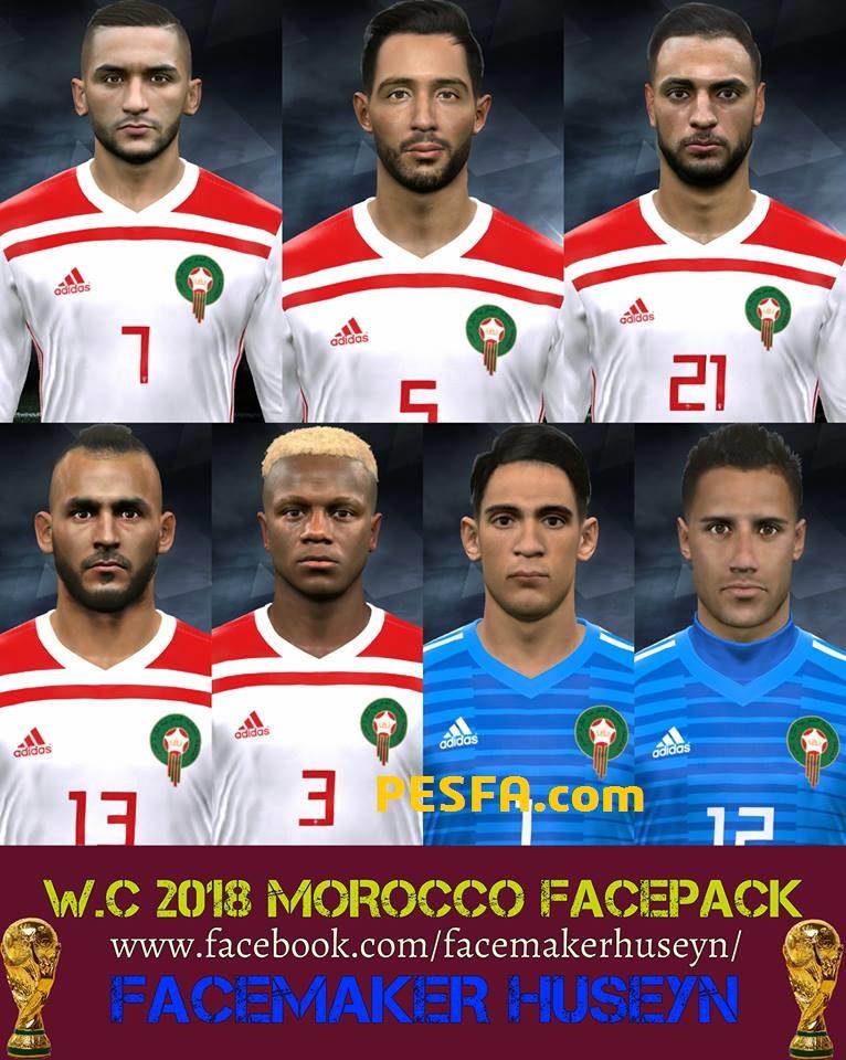 فیس پک Morocco توسط Huseyn برای PES 2017