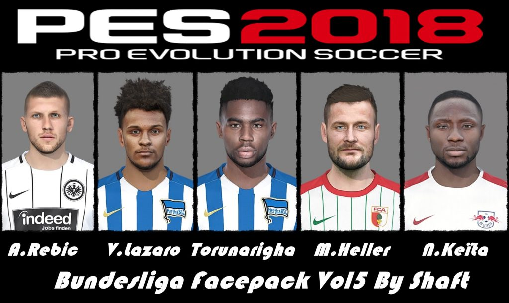 فیس پک Bundesliga ورژن 5 توسط Shaft برای PES 2018