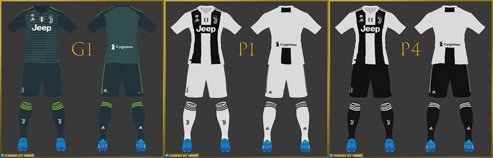کیت پک Juventus 2018-19 توسط Essam برای PES 2017
