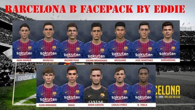 فیس پک Barcelona B توسط Eddie برای PES 2017
