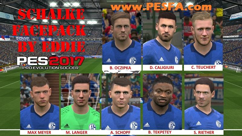 فیس پک Schalke 04 توسط Eddie برای PES 2017