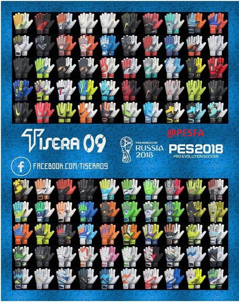 پک دستکش v3 توسط Tisera09 برای PES 2018
