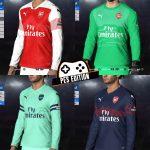 کیت پک Arsenal 2018/19 توسط BeDoo برای PES 2017