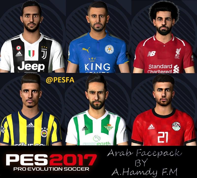 فیس پک Arab توسط A.Hamdy برای PES 2017