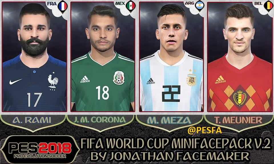 مینی فیس پک World Cup v2 توسط Jonathan برای PES 2018