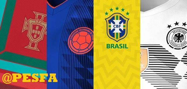 فول کیت پک جام جهانی 2018 توسط RFA برای PES 2017