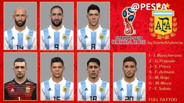 فیس پک تیم ملی Argentina توسط DanielValencia برای PES 2017