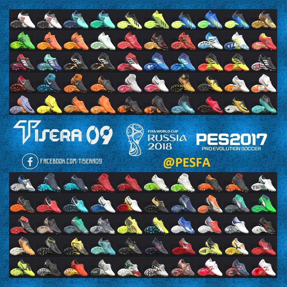 پک کفش v9 توسط T09 برای PES 2017